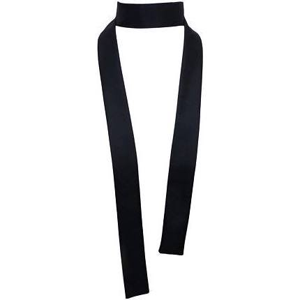 Silk Twill Skinny Neck Scarf Tie Black, Shantung Wild Taffeta French Dupioni AA Maxi Twilly Long Thin Narrow choker; Sash Ascot Bow, Boho