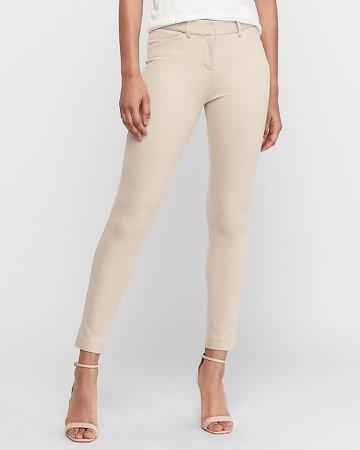 Mid Rise Skinny Textured Ponte Pant