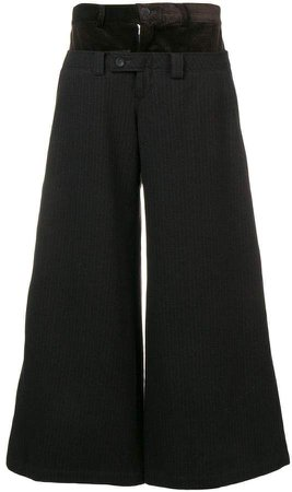 Pre-Owned double layer trousers