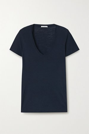 Navy Slub Supima cotton-jersey T-shirt | James Perse | NET-A-PORTER