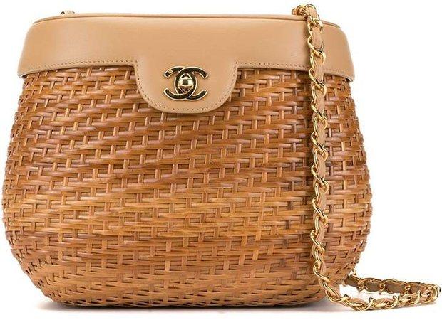 Pre-Owned basket CC shoulder bag