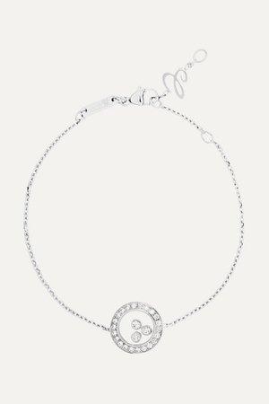 Chopard | Happy Diamonds 18-karat white gold diamond bracelet | NET-A-PORTER.COM