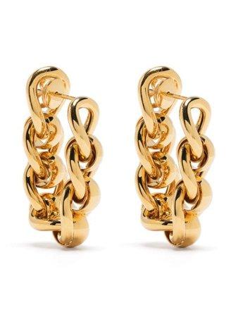 Bottega Veneta chain-link Hoop Earrings - Farfetch