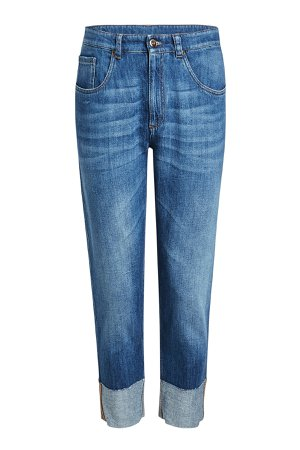 Cropped Jeans with Cuffed Ankles Gr. IT 44