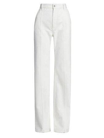 Loewe High-Rise Wide-Leg Jeans | SaksFifthAvenue