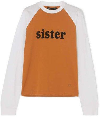 Eggan Printed Cotton-jersey T-shirt - Orange