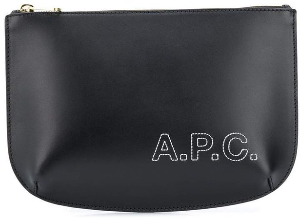 stitched-logo pouch
