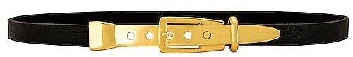 Lovestrength Skinny Waist Belt with Gold Detail