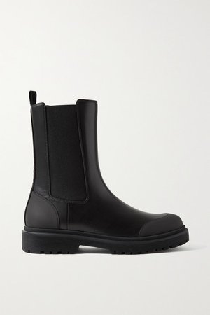 Patty Leather Chelsea Boots - Black