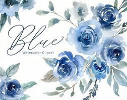 blue watercolor flowers background - Google Search