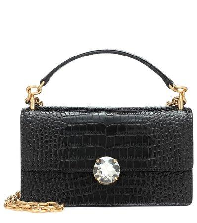 Mock-Croc Leather Shoulder Bag | Miu Miu - Mytheresa