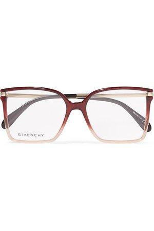 Givenchy   Oversized square-frame ombré acetate optical glasses   NET-A-PORTER.COM
