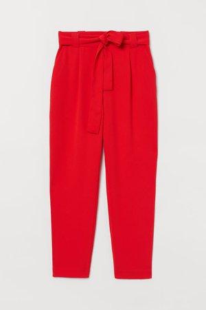 Ankle-length Slacks - Red - Ladies | H&M CA