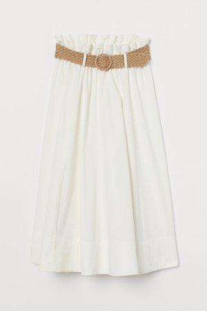 Belted Skirt - White - Ladies | H&M US