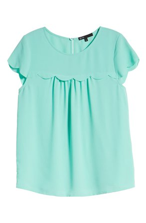 Gibson x Fall Refresh Fancy Ashley Woven Scallop Top | Nordstrom