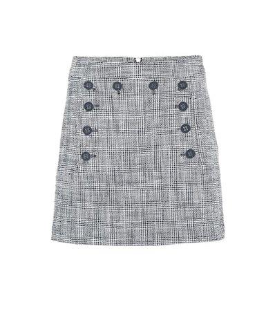 Maida checked tweed miniskirt