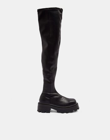 Topshop Truth over the knee boots in black | ASOS
