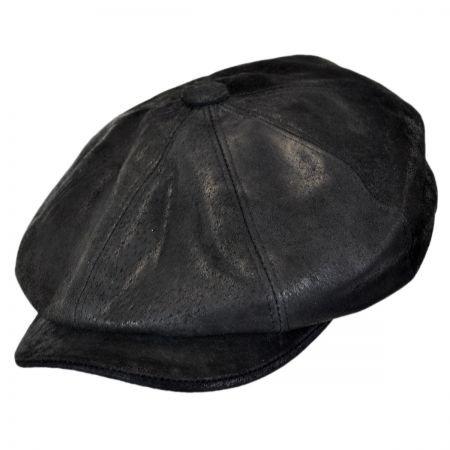 Stetson Rustic Leather Newsboy Cap Newsboy Caps