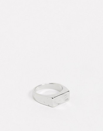 Weekday Jessica signet ring in silver | ASOS