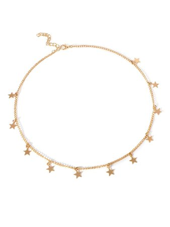 Star Decorated Chain Choker   ROMWE