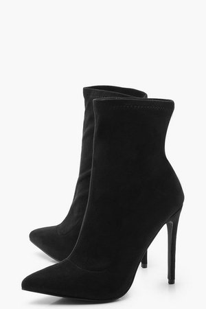 Pointed Toe Stiletto Sock Boots | boohoo