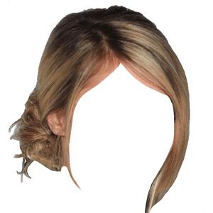 blonde hair png low bun