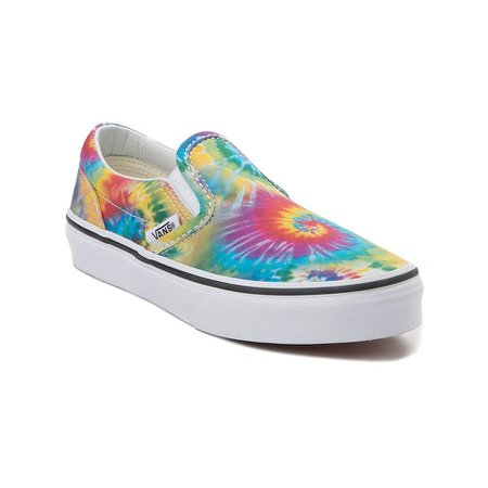 Youth Vans Slip On Tie Dye Skate Shoe - multi - 1498180