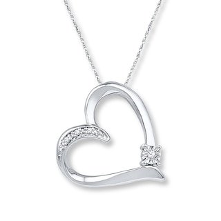 Heart Necklace Diamond Accents Sterling Silver | Womens Necklaces | Necklaces | Kay