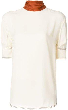 contrast collar T-shirt