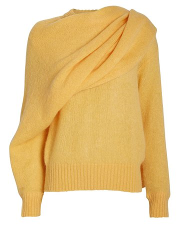 Colette Mohair-Blend Draped Sweater