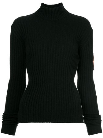 Chanel Pre-Owned Patch Sleeve Knit Top - Farfetch