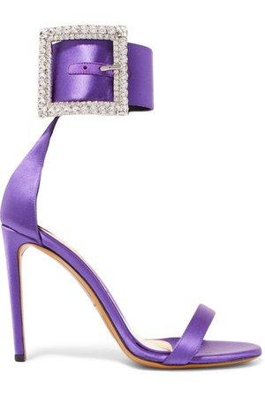 Alexandre Vauthier | Yasmin Swarovski crystal-embellished satin sandals | NET-A-PORTER.COM