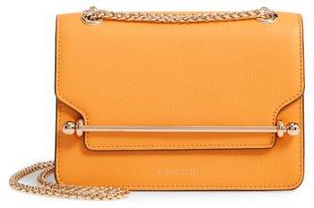 Mini East/West Leather Crossbody Bag