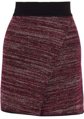 Cashlin Wrap-effect Stretch-knit Mini Skirt