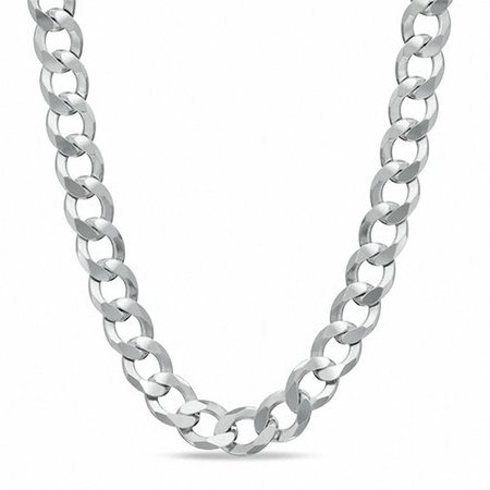 Men's 7.0mm Curb Chain Necklace in Sterling Silver - 22"