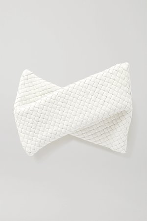 Off-white Twist intrecciato leather clutch | Bottega Veneta | NET-A-PORTER