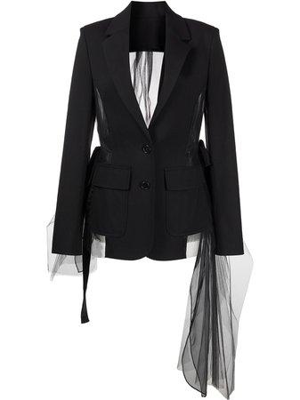 Monse drawstring tulle-panel jacket - FARFETCH