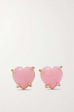 Rose gold Love 18-karat rose gold opal earrings | Irene Neuwirth | NET-A-PORTER
