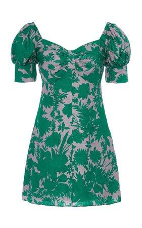Pilou Printed Linen Mini Dress by Alexis | Moda Operandi