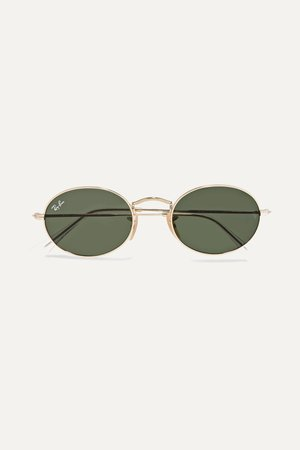 Gold Oval-frame gold-tone sunglasses | Ray-Ban | NET-A-PORTER