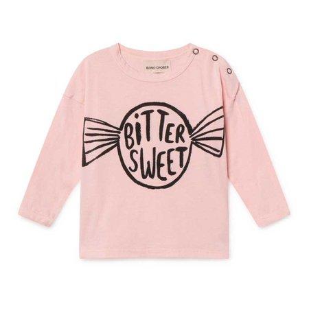 Bonbon Organic Cotton T-shirt Pale pink Bobo Choses Fashion Baby