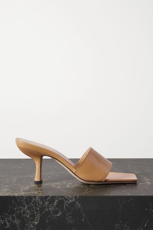 Tan Dylan leather mules   BY FAR   NET-A-PORTER