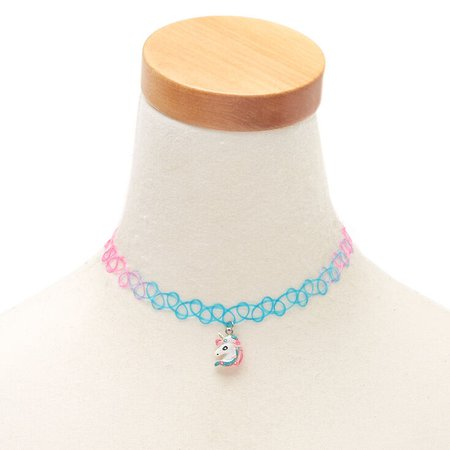 Claire's Club Rainbow Unicorn Choker Necklace | Claire's US