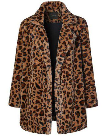 LE3NO Womens Oversized Leopard Long Sleeve Open Front Coat Jacket with | LE3NO