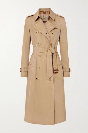 Beige The Chelsea Long cotton-gabardine trench coat | Burberry | NET-A-PORTER