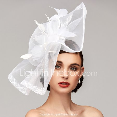 Feather / Net Kentucky Derby Hat / Fascinators / Headpiece with Feather / Floral / Flower 1pc Wedding / Special Occasion Headpiece 6894543 2019 – $10.79