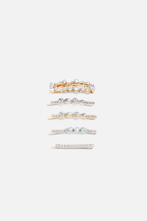 PACK OF JEWEL HAIR CLIPS-MOM-WOMAN-CORNER SHOPS | ZARA United States