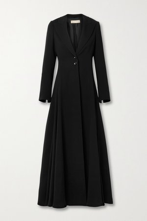 Black Crepe maxi dress | Alaïa | NET-A-PORTER