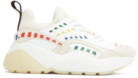 Eclypse Raised-sole Faux-leather Trainers - Womens - White Multi