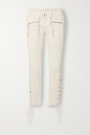 Unravel Project | Lace-up leather skinny pants | NET-A-PORTER.COM